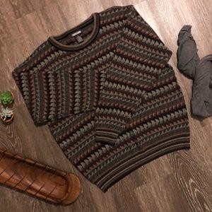 Vintage   Oversized sweater   M   earth tones cozy